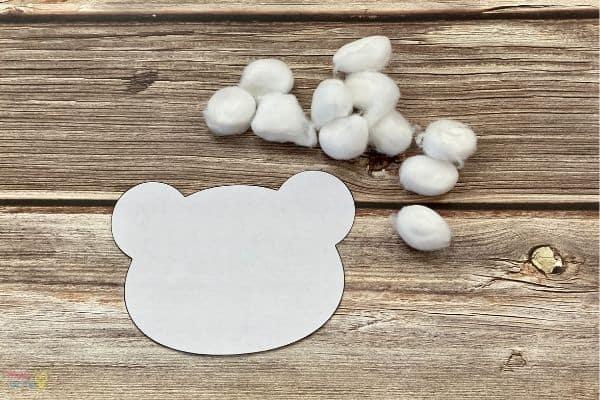 Cotton Ball Polar Bear Craft (2)