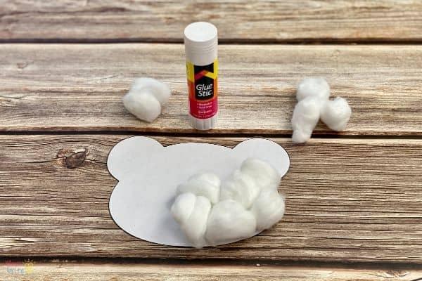Cotton Ball Polar Bear Craft (3)