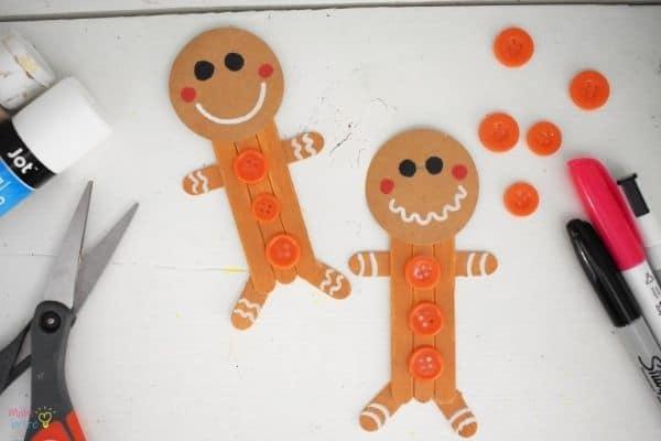 Craft Stick Gingerbread Man