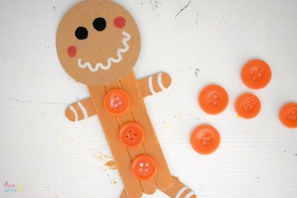 Craft Stick Gingerbread Man (10)