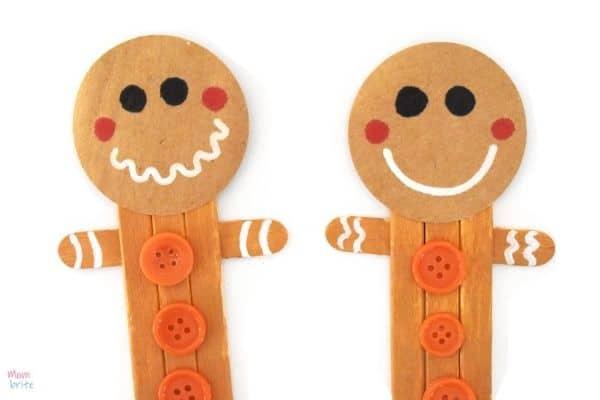 Craft Stick Gingerbread Man (2)