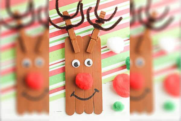 DIY popsicle stick reindeer
