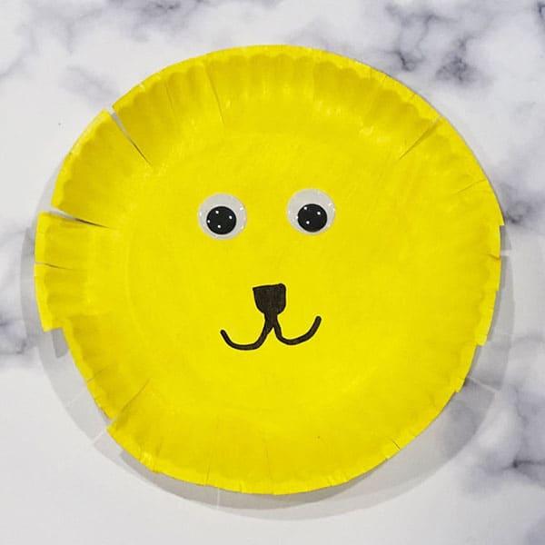 Daniel the Lion Paper Plate Craft