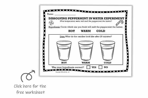 Dissolving Peppermint Candy Worksheet