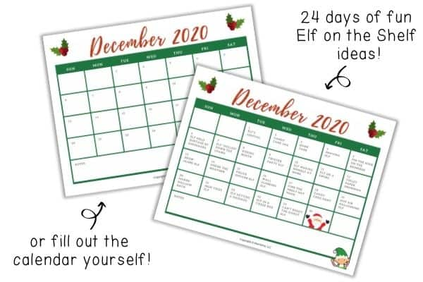 Elf on the Shelf Calendar Mockups
