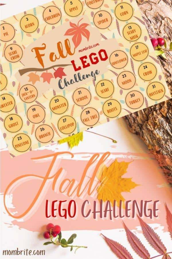 Fall LEGO Challenge Pin