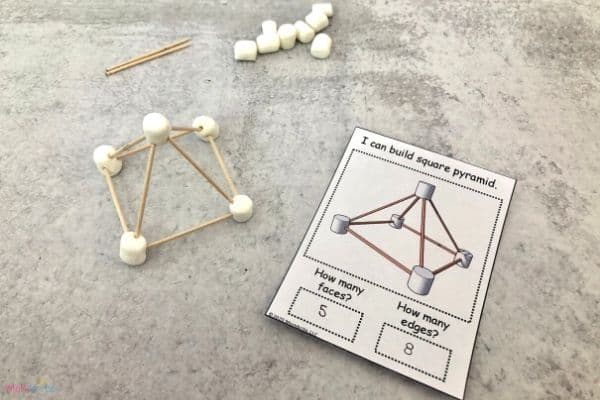 Geometric Shapes with Marshmallows