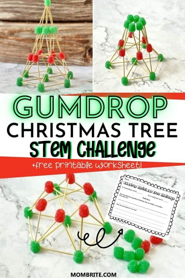 Gumdrop Christmas Tree STEM Challenge Pin