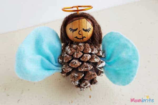 Hand made Pinecone Angel