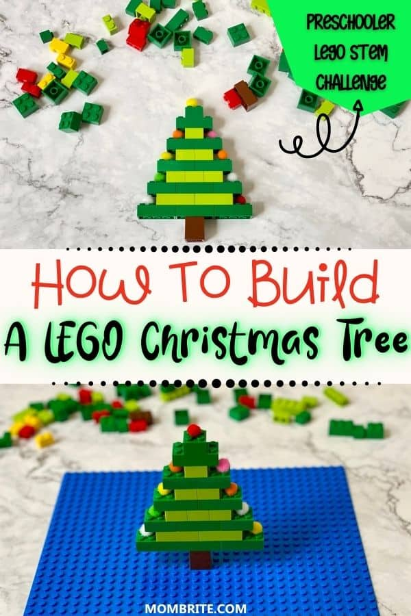 How to Build a LEGO Christmas Tree Pin