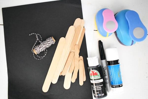 Mini craft sticks material