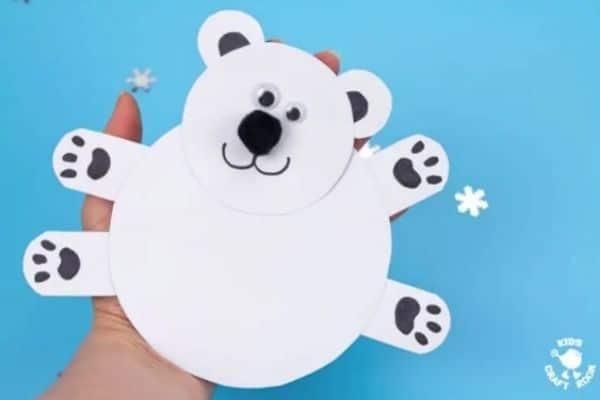 Moving Polar Bear Cub Craft Image
