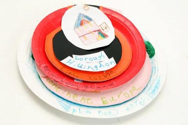 My World Paper Plate Craft