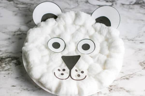Paper Plate Cotton Ball Craft