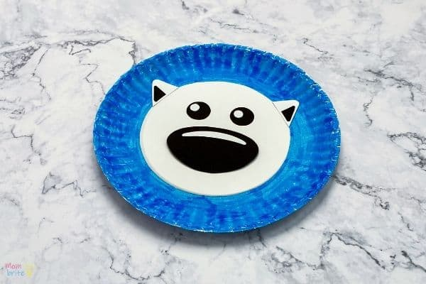 Paper Plate Polar Bear Craft (1)
