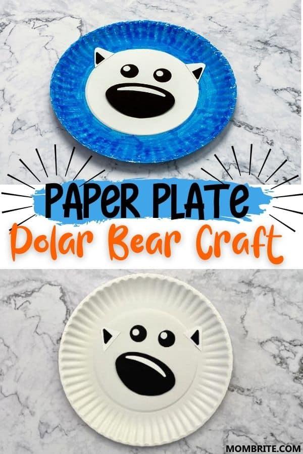 Paper Plate Polar Bear Craft Pin
