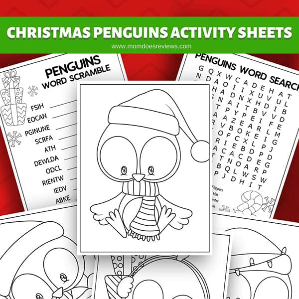 Penguin Activity Sheets