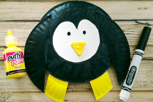 Penguin Paper Plate Craft