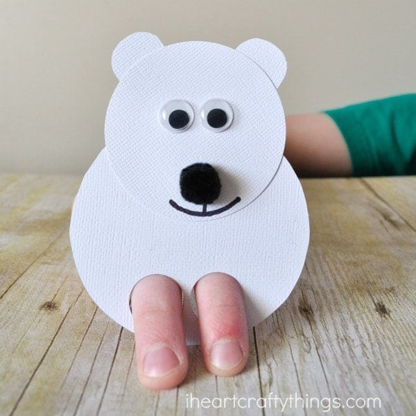 Polar Bear Finger Puppets