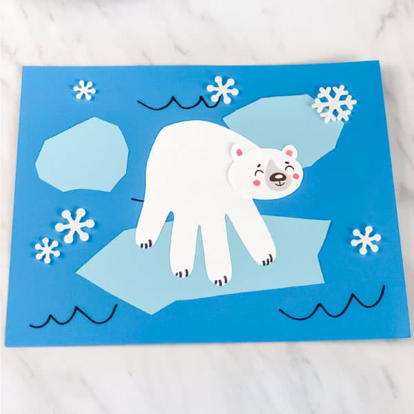 Polar Bear Handprint Craft