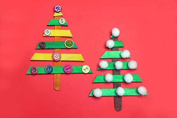 Popsicle Stick Christmas Craft Idea for Kids
