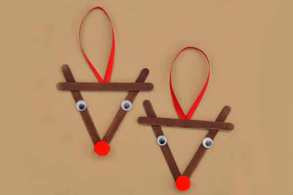 Red ribbon popsicle stick craft
