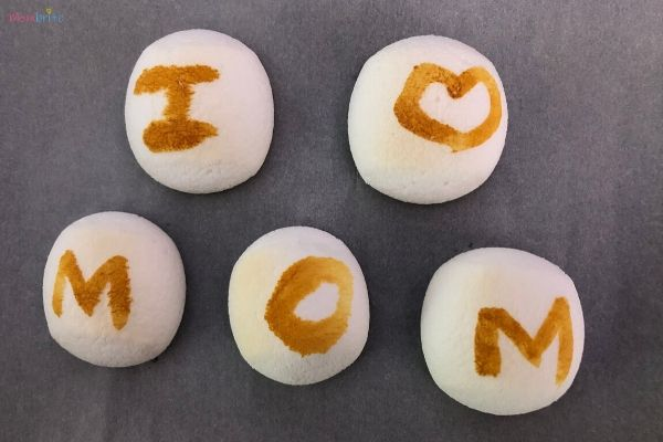 Secret Messages on Marshmallows