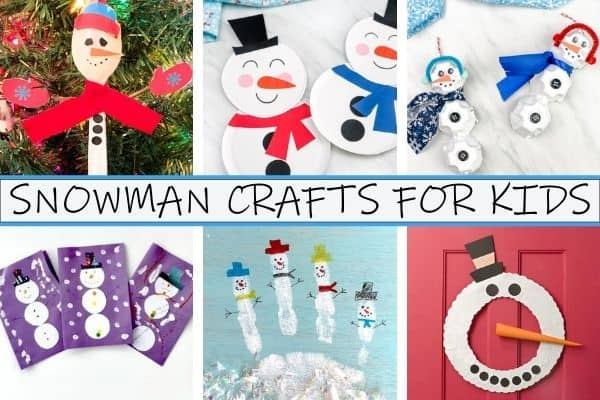 Snowman Crafts for Kids Collage