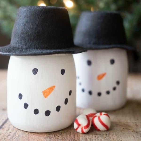 Snowman Gift Jars
