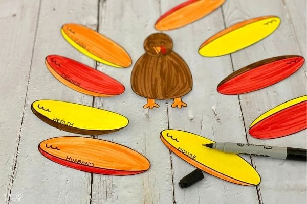 Thankful Turkey Coloring Craft (4)