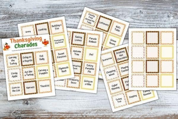 Thanksgiving Charade Cards Mockup 1