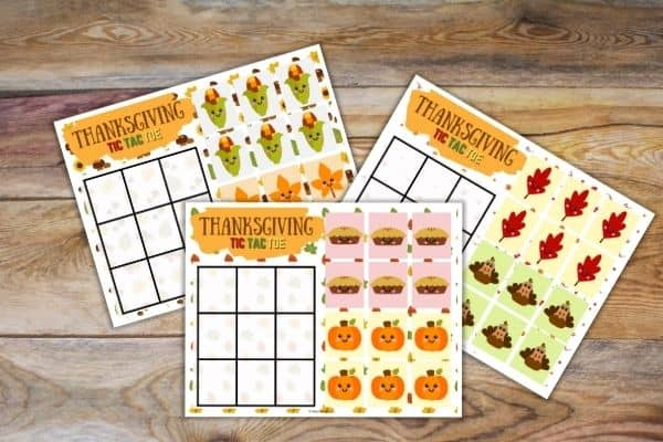 Thanksgiving Tic Tac Toe