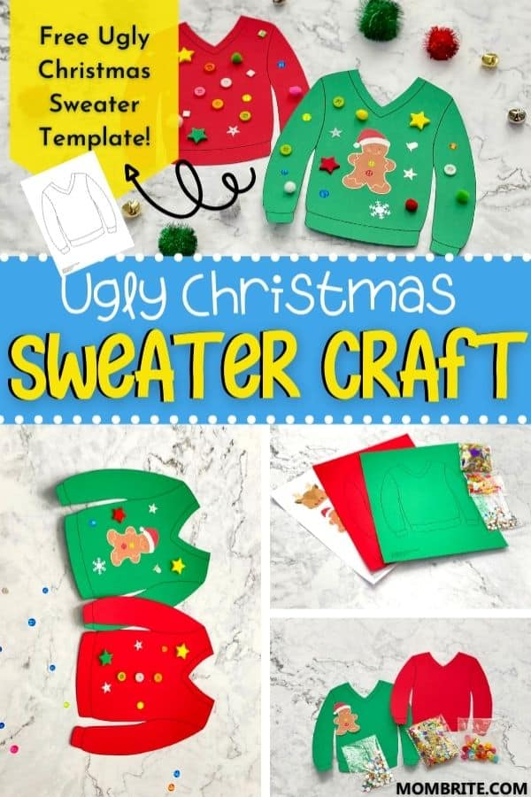 Ugly Sweater Craft Pin