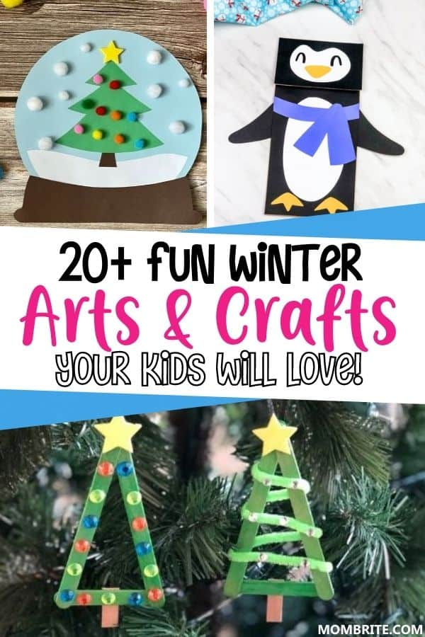 Winter Arts and Crafts for Kids Pin