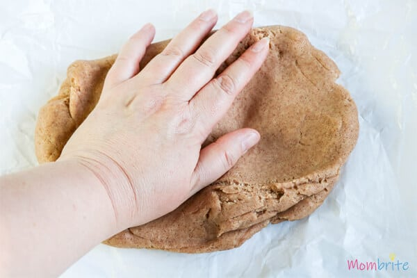 gingerbread dough prepared