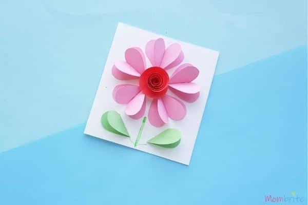 3D Heart Flower Card (1)
