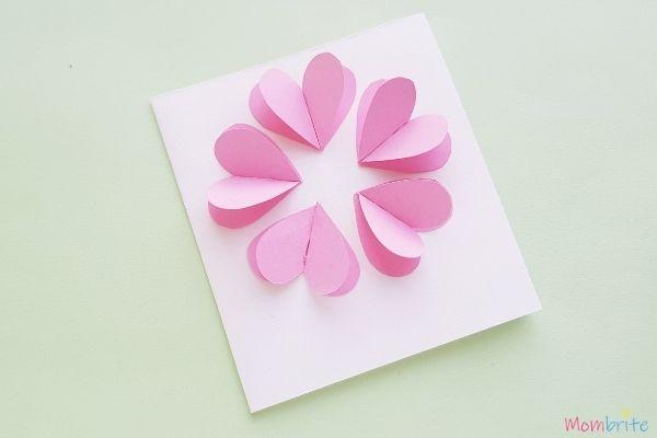 3D Heart Flower Card Flower Petals 1