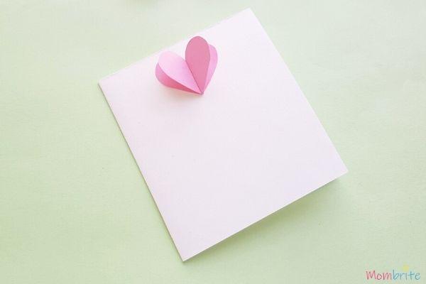 3D Heart Flower Card Flower Petals