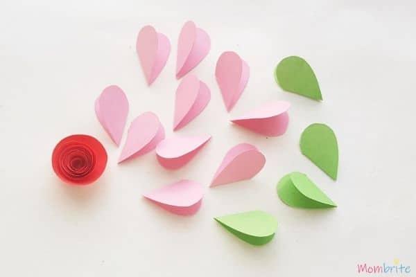 3D Heart Flower Card Fold Patterns