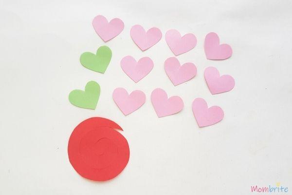 3D Heart Flower Card Patterns