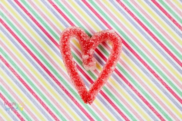 Borax Crystal Heart