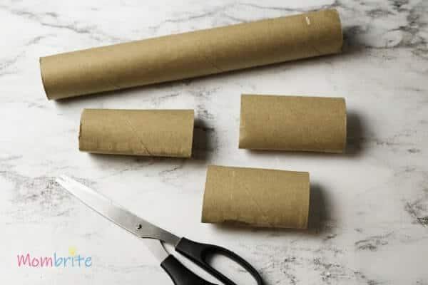 Cut Cardboard Tube to Make Dragon Crafts