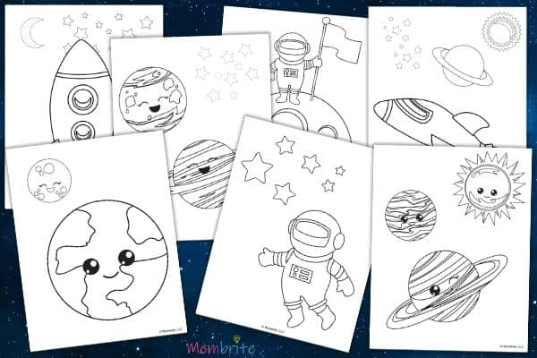 Free Outer Space Coloring Pages for Kids