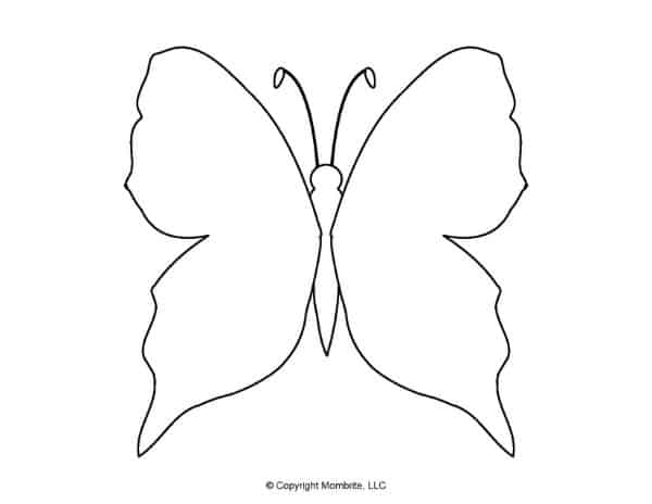 Free Printable Butterfly Template 2