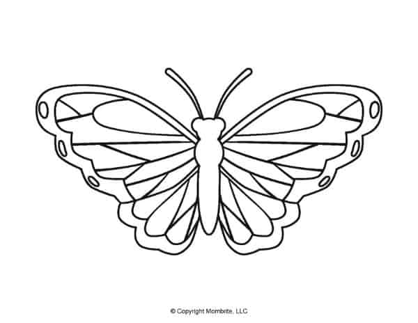 Free Printable Butterfly Template 3