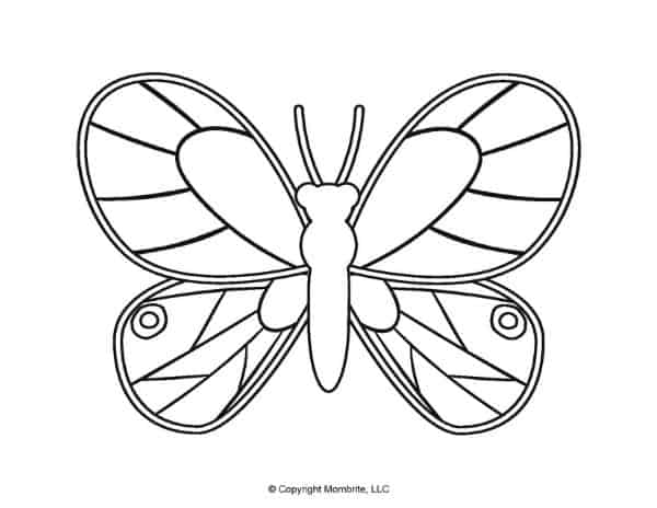 Free Printable Butterfly Template 4