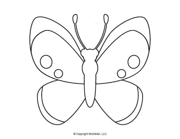 Free Printable Butterfly Template 6