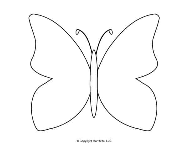 Free Printable Butterfly Template 7