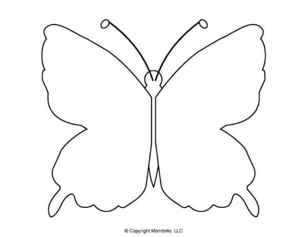 Free Printable Butterfly Template 9