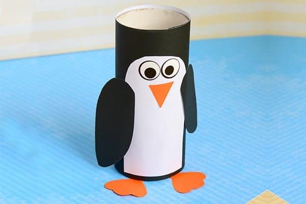 Hand Paper Roll Penguin Craft-min